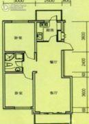 奥玛丽都2室2厅1卫83平方米户型图