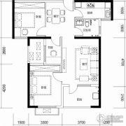 保利城3室2厅1卫92平方米户型图
