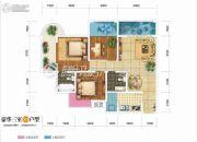 双发广场2室2厅2卫106平方米户型图