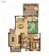 冠城大通蓝湾3室2厅2卫143平方米户型图