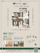 景业荔都3室2厅2卫111平方米户型图