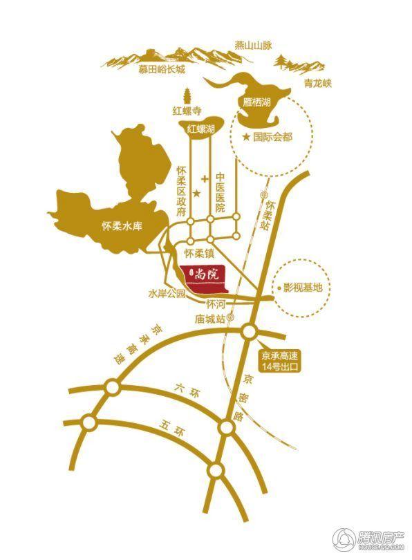 东亚尚院区位图