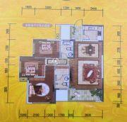环宇・世纪城3室2厅2卫107--108平方米户型图