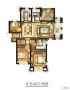 华润国际社区3室2厅2卫143平方米户型图
