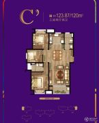 东渡悦来城3室2厅2卫0平方米户型图