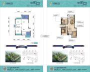 兆兴・碧瑞花园2室2厅1卫79平方米户型图