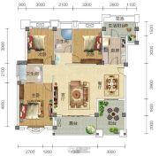 宏信依山郡3期3室2厅2卫129平方米户型图