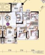 敏捷金月湾3室2厅1卫93平方米户型图