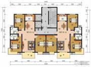 申鑫名城3室2厅2卫136平方米户型图