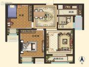智慧城云著2室2厅1卫88平方米户型图