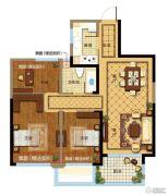 金都夏宫3室2厅1卫0平方米户型图