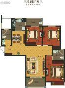 义乌城3室2厅2卫140平方米户型图