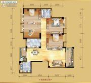 香岸华府二期4室2厅2卫155平方米户型图