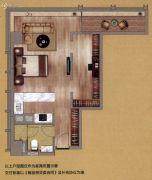 中鼎・君和名城1室0厅1卫85平方米户型图