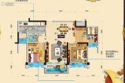 碧桂园假日半岛3室2厅1卫101平方米户型图