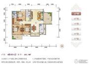 紫瑞华庭3室2厅2卫140--143平方米户型图