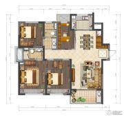 鲁能公馆4室2厅2卫138平方米户型图