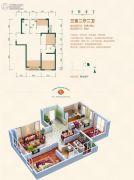 中天锦庭3室2厅2卫108平方米户型图