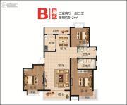 大唐凤凰府3室2厅2卫143平方米户型图