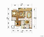 向阳花香3室3厅2卫119平方米户型图