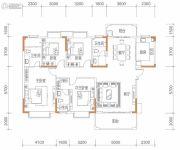 保华铂郡4室2厅3卫167平方米户型图