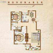 �锦世家2室2厅1卫90平方米户型图