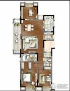 万科金域蓝湾3室2厅2卫135平方米户型图
