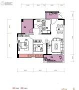 润城・双璧湾3室2厅1卫85平方米户型图