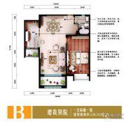 泽润・世家公馆1室2厅1卫0平方米户型图