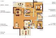 塞纳国际3室2厅2卫116平方米户型图
