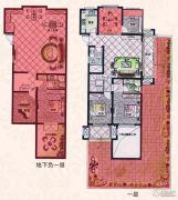 易居公馆3室2厅1卫100--110平方米户型图