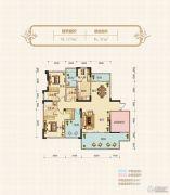 汉水名城・阅府3室2厅3卫179平方米户型图