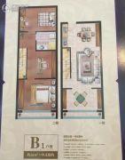 港龙・柏悦公馆2室2厅1卫55平方米户型图