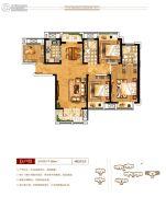 上海公馆4室2厅2卫139平方米户型图