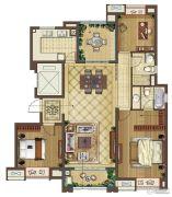 中海凤凰熙岸4室2厅2卫136平方米户型图