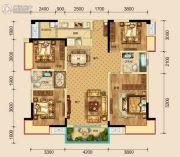 保利湖心岛4室2厅2卫136平方米户型图