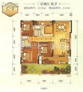 遂宁天鹅湖3室2厅2卫121平方米户型图