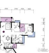 上林苑3室2厅1卫89平方米户型图