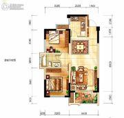 中航城2室2厅1卫71平方米户型图