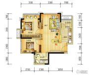 长虹和悦府2室2厅1卫58--59平方米户型图