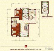 同兴苑3室2厅2卫121--127平方米户型图