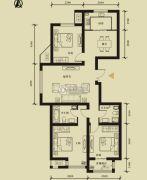 九星国际e世界3室2厅2卫134平方米户型图