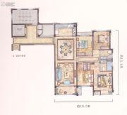 中梁温岭印象4室2厅2卫126平方米户型图