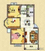 宝驰景秀苑3室2厅1卫100平方米户型图