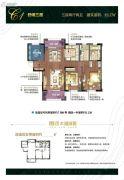朗诗太湖绿郡3室2厅2卫127平方米户型图