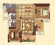 亚坤・帝景豪庭3室2厅2卫100平方米户型图