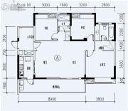 福星城3室2厅2卫123平方米户型图