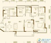 中亿阳明山水4室2厅2卫143平方米户型图