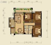 泰基巴黎春天3室2厅2卫122平方米户型图