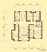 米兰国际4室2厅2卫157平方米户型图